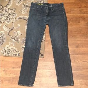 JCrew factory toothpick jeans, size 28